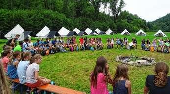 Das zehntägige Zeltlager der KjG Wolfach – das Archivfoto enstand 2017 im Lager in Frommenhausen – fällt zum zweiten Mal der Corona-Pandemie zum Opfer. Diesmal allerdings mit einer digitalen Alternative.