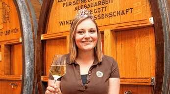 """Die frühere Bacchantin des """"Alde Gott"""", Victoria Lorenz, ist Badische Weinprinzessin. Sie repräsentiert nun die edlen Weine von Tauberfranken bis zum Bodensee."""