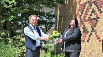 Siegfried Eckert begrüßte die neue Schulleiterin.