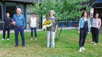 Der Vorstand im Wechseljahr 2020 (von links): Michael Opitz, Ex-Schriftführer Edgar Schillinger, Heike Lehmann, Ex-Vorsitzende Bärbel Falk, ihre Nachfolgerin Melanie Staiger und Schriftführerin Sandra Würth.