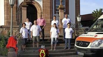 Die neue ehrenamtliche Helfergruppe mit dem Meißenheimer Bürgermeister Alexander Schröder (hinten Mitte).