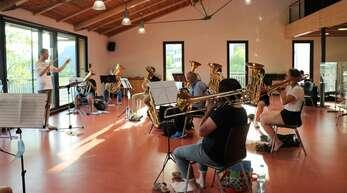 Die Musik- und Trachtenkapelle Fischerbach hatte am Donnerstagabend die erste Probe nach einer Pause von neun Monaten.