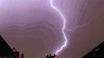 Ein Blitzschlag sorgte am Sonntagabend in Teilen des Harmersbachtals für Stromausfall.