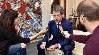Jean Rottner, amtierender Präsident der Région Grand Est, kann aufatmen. Die Entscheidung wird der zweite Wahlgang am kommenden Sonntag bringen.