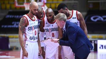 SIG-Trainer Tuovi mit Richards (von links), Udanoh, Lansdowne und Colson.