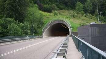 Der Hornberg-Tunnel am Südportal.