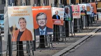 Plakatierungen an jedem Baum oder Laternenpfahl wie hier im Frühjahr in Renchen würden die Grünen in Oberkirch bei der Bundestagswahl gerne vermeiden.