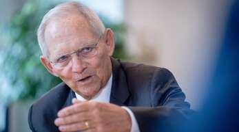 Wolfgang Schäuble, Bundestagspräsident und CDU-Abgeordneter des Wahlkreises Offenburg.