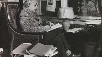 Ein Ausschnitt aus Eric Schaals Porträt von Albert Einstein