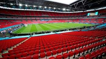 Im Wembley-Stadion trifft England bei der EM 2021 auf Deutschland.