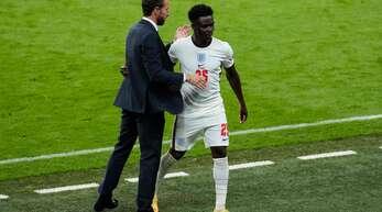 Eine geglückte Rochade: Englands Trainer Gareth Southgate hat zuletzt auf das Talent Bukayo Saka gesetzt.