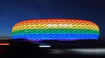Wird das Stadion in München bei der EM 2021 gegen Ungarn so erstrahlen?