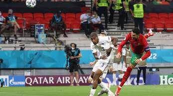 Cristiano Ronaldo zeigt gegen Frankreich sein Können.