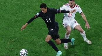 Jamal Musiala überzeugte gegen Ungarn nach seiner Einwechslung.