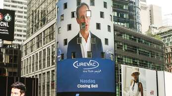 Im August 2020 ging Curevac an die US-Börse: Konzernchef Franz-Werner Haas gab sich optimistisch.