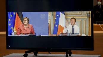 Merkel und Frankreichs Präsident Macron preschen gemeinsam vor.
