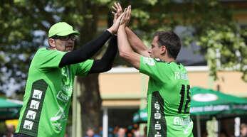 Timo ehret (l.) und Michael Haashoffen mit der FG Griesheim am Samstag auf zwei Heimsiege.