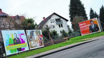 An den Vorgaben für die Wahlplakatierung in Oberkirch (hier ein Bild von 2016) soll sich nichts ändern.