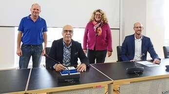 Gemeinsam für eine starke Kehler Innenstadt: (v. l.) Frank Riebel, Vorsitzender des City Forums, OB Toni Vetrano, Wirtschaftsförderin Fiona Härtel und Alwin Wagner, stellvertretender Hauptgeschäftsführer der IHK Südlicher Oberrhein.