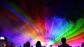 Die Lasershow kam bei den Kehlern sehr gut an.