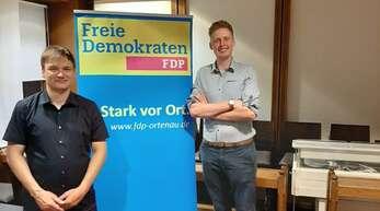 Benedikt Eisele (links) und Yannick Kalupke kandidieren am Samstag für den Vorsitz des FDP-Ortsverbands Kehl-Hanauerland.