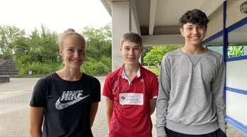 Lina Berger, Leonard Koch und Roman Latief (v. l.) waren in Herrenberg am Start.