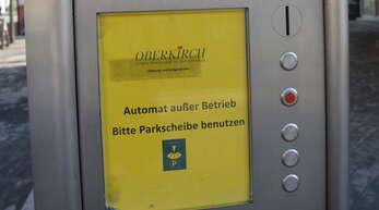 In die Jahre gekommen und störanfällig: Die alten Parkscheinautomaten in Oberkirchs Innenstadt sollen ausgetauscht werden.