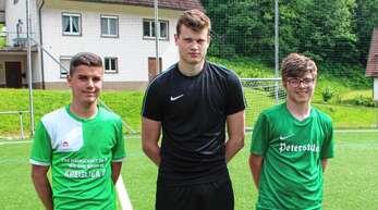 Die drei Neuzugänge des SVS kommen aus der A-Jugend der SG Oberwolfach/Schapbach (von links): Mirko Müller, Felix Heizmann und Bastian Schmid.