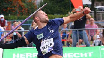 Lokalmatador Johannes Vetter im vergangenen Jahr beim Meeting in Offenburg.