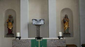Altarraum der St. Gebhards Kirche in Niederwasser