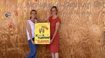 Linda Schneider und Nadja Scherible von der MZO-Elterninitiative.