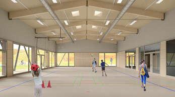 Der Bau der Halle Bottenau soll nach den Sommerferien beginnen, die Fertigstellung ist für Frühjahr 2023 vorgesehen.