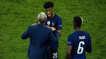 Beim Spiel gegen die Schweiz entbrannte zwischen Kingsley Coman und Trainer Didier Deschamps ein Streit auf dem Platz.