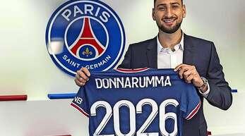Auch Italiens EM-Held Gianluigi Donnarumma bereichert künftig das Starensemble von Paris Saint-Germain.