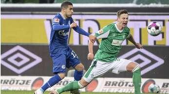 Schalke (hier mit dem Brasilianer William/li.) gegen Werder (mit Marco Friedl) – dieses Duell der beiden Traditionsclubs steigt jetzt in der zweiten Liga.
