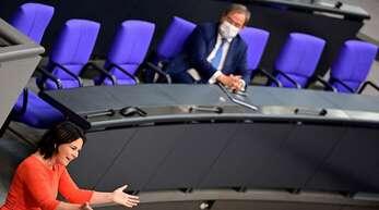 Annalena Baerbock und Armin Laschet streben das Kanzleramt an.
