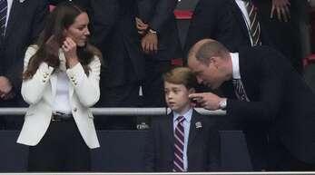Prinz George weinte nach dem verlorenen EM-Finale der Engländer.