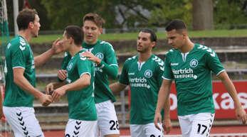 Wollen in der Verbandsliga ganz vorne mitspielen – falls Corona es zulässt: die KFV-Spieler (v. l.) Felix Armbruster, Ümit Sen, Tim Keck, Fadi Ammar Kheloufi und Elyes Bounatouf.