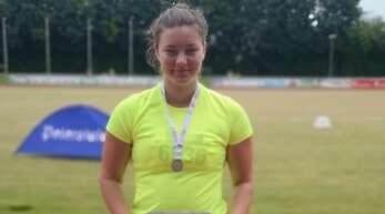 Eva Hoferer gewann Silber im Kugelstoßen.