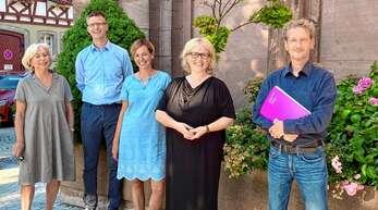 Sie bereiten das Konzert zum 100-Jährigen vor: von links Gabriele Wiedmann, Jan Münchenberg, Anne Schmidt-Heinrich, Dorothee Wiedmann, Mark Nötzel.