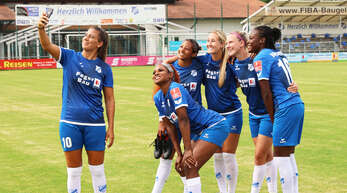 Die Spielerinnen des SC Sand freuen sich auf den Saisonstart.