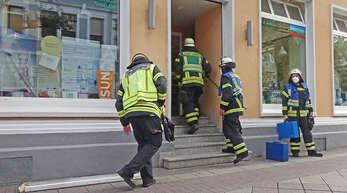 Eine defekte Leuchtstoffröhre (links unten) verursachte am Donnerstag, 5. August, um 9.30 Uhr einen Einsatz der Feuerwehr auf dem Marktplatz.