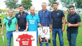 Abschiedsfoto beim SV Linx (v. l.:) Eric Ehle, Carmelo Federico, Geoffrey Feist, Dieter Wendling, Sascha Reiss und Frank Wendling.
