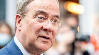 Armin Laschet, Kanzlerkandidat der Union und Vorsitzender der CDU, bei einer Wahlkampfveranstaltung in Oldenburg.