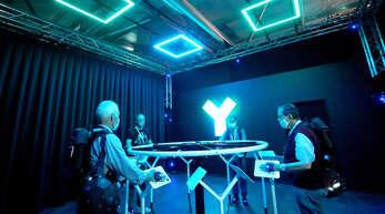 """Im September 2020 wurde die Attraktion """"Yullbe"""" von Macknext eröffnet. Besucher tauchen dabei mithilfe technischer Ausrüstung in virtuelle Welten ein."""