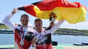 Ein letztes Mal unter gleicher Flagge: Max Hoff (links) und Jacob Schopf