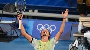 Alexander Zverev gewinnt die Goldmedaille.