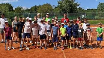 Viel Spaß hatten die Teilnehmer beim Tennis-Camp des TC Rammersweier. Sie konnten außerdem einige Inhalte zum Spiel und zur Taktik mitnehmen.