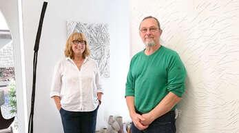 Ursula Reichart und Emanuel Ogrodniczek leiten den Künstlerkreis Ortenau.