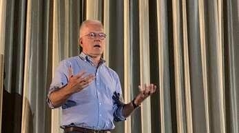 Nach dem Film lud Thomas Zawalski, Direktkandidat der Grünen, im Kinocenter Kehl zum Gespräch.